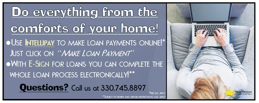 Do everything from the comforts of your home - online banking products intellipay and e-sign promotion