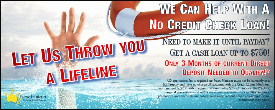 No credit check loan promotion